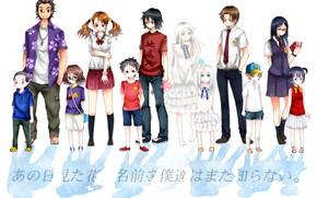 Picture Unprecedented Flower, Meiko Honma, Jinta Yadomi, Chiriko Tsurumi, Tetsudou Hisakawa, Naruko Anjou, Atsumu Matsuyuki