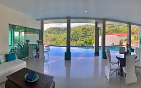Picture interior, pool, the hotel, terrace, lounge zone, Grand Bleu