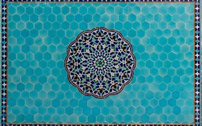 Picture Iran, islamic pattern, Jame Mosque