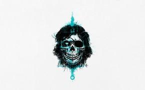 Picture Minimalism, Skull, Style, Background, Art, Snake, Style, Sake, Fiction, Solid Snake, Metal Gear, Background, Helix, …