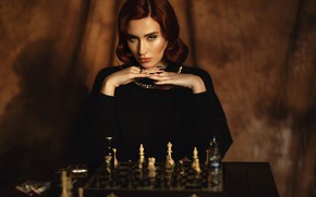 Picture look, girl, photo, makeup, chess, Alina Moore