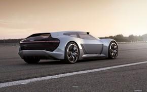 Picture light, grey, Audi, rear view, 2018, PB18 e-tron Concept