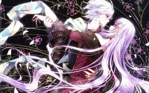 Picture the game, anime, two, Queen of the Flowers