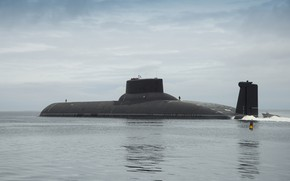 Picture submarine, the project 941, Dmitry Donskoy, the cipher Shark
