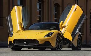 Picture yellow, Maserati, Coupe, M240, MC20