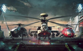 Picture The game, War, Helicopter, USA, USA, Russia, Russia, Technique, War, War machine, Helicopter, Helicopter, Helicopters, …