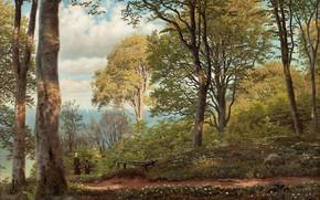 Picture Danish painter, Peter Merk Of Menstad, Peder Mørk Mønsted, Danish realist painter, 1879, oil on …