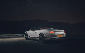Picture night, Bentley, Continental GT, rear view, Convertible, 2019