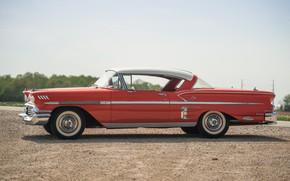 Picture Chevrolet, Wheel, Profile, Gravel, Classic, Bel Air, Impala, Chrome, Classic car, 1958, Chevrolet Bel Air …