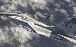 Picture The MiG-29, multi-role fighter of the fourth generation, Fulcrum, OKB MiG