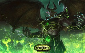 Picture the demon, demon, Blizzard, wow, повелитель ужаса, World of Warcraft: Legion, Пылающий Легион, nathrezim, dread …
