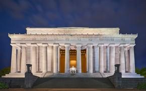 Picture night, the city, architecture, United States, Washington, D.C., Hamburgh (historical)