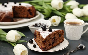 Picture tea, pie, Cup, cakes, chocolate
