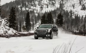 Picture 2018, GMC, SUV, Denali, Yukon, wet snow