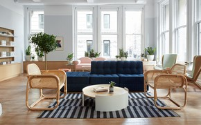 Picture interior, New York, NYC, living room, by Alda Ly Architecture and Design, Parsley Health