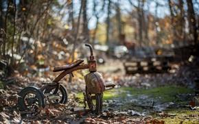 Picture bike, background, scrap