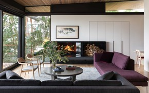 Picture room, interior, fireplace, living room, View Ridge