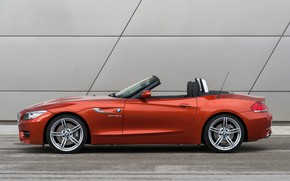 Picture BMW, Roadster, 2013, E89, BMW Z4, Z4, sDrive35is, in front of the wall