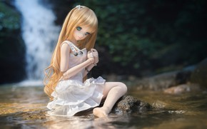 Picture water, doll, dress