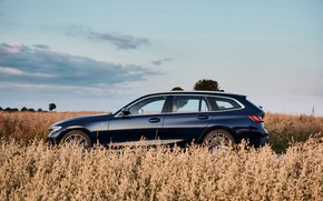 Picture BMW, 3-series, universal, in profile, dark blue, 3P, 2020, G21, 330d xDrive Touring