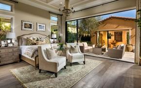Picture furniture, interior, terrace, Chatsworth, Canyon Oaks, сппальня, Master Bedroom