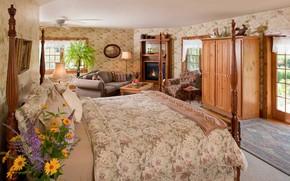 Picture design, interior, fireplace, bedroom, living room, Chanticleer