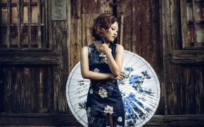 Picture girl, style, umbrella