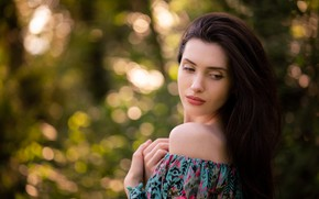 Picture girl, face, background, model, hair, cutie