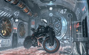 Picture motorcycle, ventilation, the room, level, Exit Through The Vault