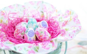 Picture eggs, Easter, colorful
