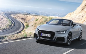 Picture road, machine, Audi, lights, view, turn, Roadster, TT RS, 2020