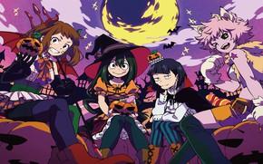 Picture girls, costumes, Halloween, My Hero Academia, Boku No Hero Academy, My Hero Academy
