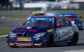 Picture blue, coupe, BMW, track, M4 GT4