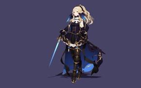 Picture girl, sword, fantasy, elf