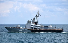 Picture large, boat, rocket, The black sea, Ivanovets
