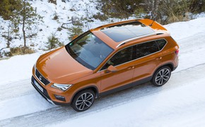 Picture snow, top, SUV, Seat, 2017, 4Drive, Ateca