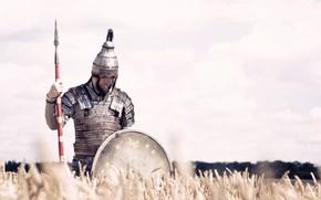 Picture Field, Warrior, Helmet, Warrior, Shield, Shield, Spear, Armor, Spear, Southern Germany, Lance, Lamellar armor, Workshop …