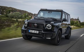 Picture road, black, Mercedes-Benz, SUV, Brabus, AMG, G-Class, G63, G 63, 2019, W464, Black Ops 800