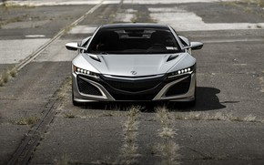 Picture Front, Acura, NSX, Face, Silver, LED