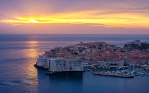 Picture Sunset, Sea, Dubrovnik