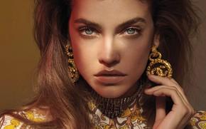 Picture look, girl, model, portrait, earrings, Vogue, Barbara Palvin