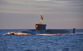 Picture submarine, atomic, the project 955, Boreas, Vladimir Monomakh