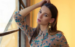 Picture look, girl, hair, earrings, Yulia, LG Photography