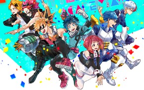 Picture class, characters, students, My Hero Academia, Boku No Hero Academy, My Hero Academy