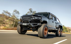 Picture pickup, on the road, Rezvani, 2020, Hercules 6x6