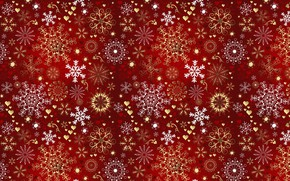 Picture snowflakes, mood, holiday, new year, texture, asterisk