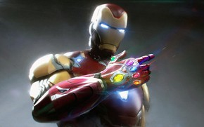 Picture Iron man, Pablo Dominguez, The gauntlet of infinity, Avengers: Endgame, The Avengers: The Final, IRONMAN