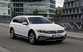 Picture white, street, Volkswagen, universal, Passat, Alltrack, 2019