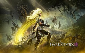 Picture girl, the game, being, Darksiders III