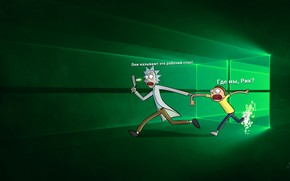 Picture Desk, Rick and Morty, Windows 10